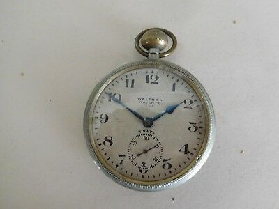 S16 Vintage 8 Day Waltham Deck Watch Ships Chronometer Military Maritime
