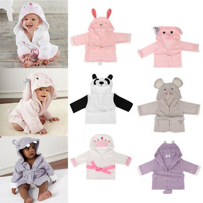 c9e87412c9 New Cute Animal Cartoon Baby Kids Hooded Bathrobe Toddler Boy Girls Bath  Towels
