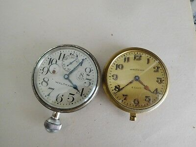 S17 2 Vintage 8 Day Waltham Deck Watch Ships Chronometer Military Maritime