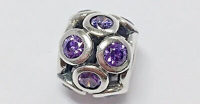 Pandora Purple Whimsical Lights Charm 925 ALE # 791153ACZ Sterling Silver