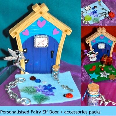 Christmas elf door key glitter dust scroll santa 39 s for Fairy door with key