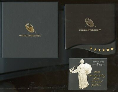 United States 2016 Standing Liberty 1/4 Ounce Pure Gold Complete As Issued Fresh