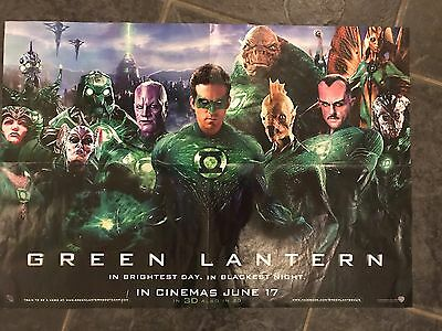 Green Lantern 2011 Double Sided Movie Poster Ryan Reynolds