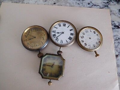 F1 4 Antique Car Travel Clocks Art Deco Vintage 8 Day Automobile Dash Mount