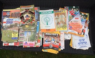 210 DIFFERENT FOOTBALL PROGRAMMES 1960s-90s (COLIN APPLETON SCARBOROUGH) UK ONLY