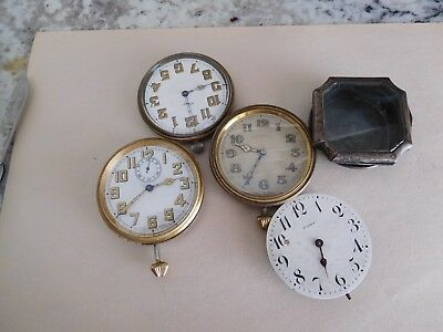 F2 4 Antique Car Travel Clocks Art Deco Vintage 8 Day Automobile Dash Mount