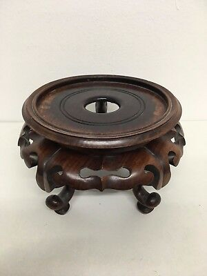 Large Hard Wood Chines Stand On Qing Dynasty 504 Grams
