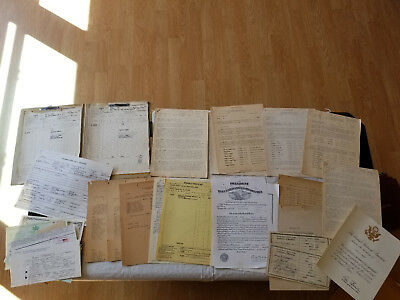 Vintage 1940's Wwii Us Air Force & Coast Guard 2 Brothers Archive Documents