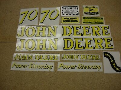 John Deere Model 70 Tractor Decal Set - NEW FREE SHIPPING