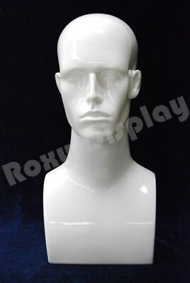 Plastic Male Mannequin Head Bust Wig Hat Jewelry Display #ERAW-PS