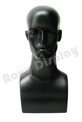 Plastic Male Mannequin Head Bust Wig Hat Jewelry Display #ERABLACK-PS