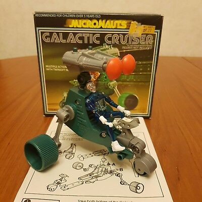 Micronauts Galactic Cruiser with box, instructions and Time Traveller figure