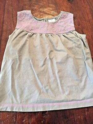 Hanna Andersson girls sleeveless top purple and gray size 160