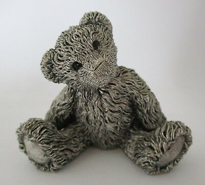 Metal teddy bear figure marked CA ~ Country Artists?