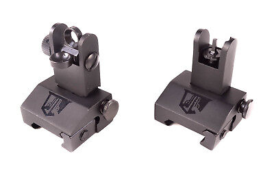 Ozark Armament Flip Up Sights for Railed Rifles - Picatinny Mount BUIS