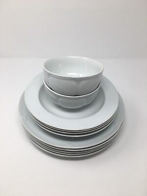 Marks & Spencer St Michael Dinner Plate x5, Soup Plate x4 and 2 Soup Bowls