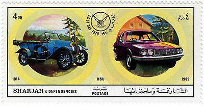 Middle East Sharja & Dependencies Air Mail Post Day 1970 Mnh