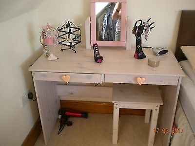 Dressing Table & Stool,  Shabby Chic Young Girls 1st Desk / Dressing Table .