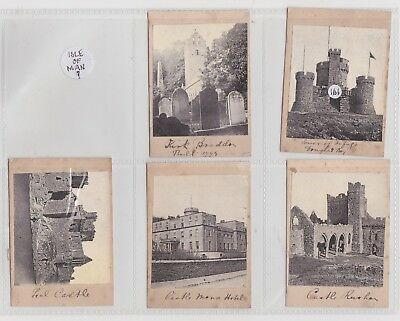 Isle of Man 5 photos. c1920(?? )Rushen,Peel, Mona,Tower of Refuge,Kirk Braddon