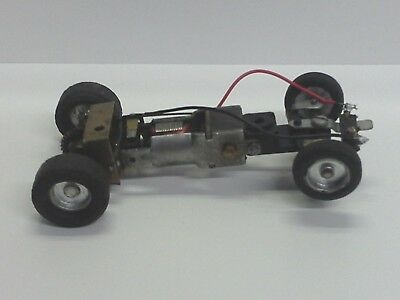 ATLAS STROMBECKER NO IDEA!! Vintage 1.32 SLOT CAR CHASSIS & GUIDE (STRONG MOTOR)