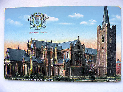 Dublin St. Patrick's Cathedral City Arms Reis New c.1910