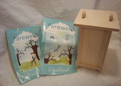 Pet Casket Natural Birch Ply Booklet  Small Workbook Guide Urn
