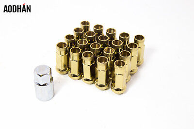 Aodhan XT51 14x1.5mm Extended Open Lug nuts (Gold Set of 20PC w/Key) 51mm