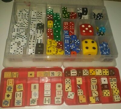 LOT of Antique Vintage Collectible Old Game Dice, poker dice, etc. Bakelite