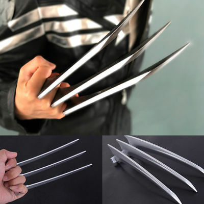 1Pair/2Pcs Wolverine Claws Logan Paws Cosplay Props ABS Heavy Party Wolf US Ship