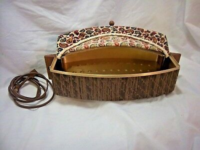 Salton Bun Warmer WB 5 Paisley Cover Rattan Base Working Instructions