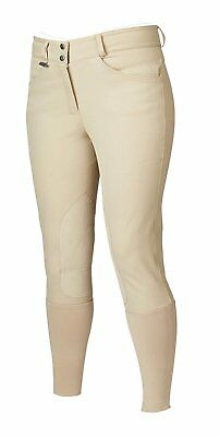 Dublin Active Signature Euro Seat Front Zip Knee Patch Riding Breeches