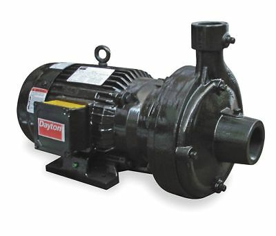 Dayton 12A066 Enclosed Fan-Cooled Centrifugal Pump, Cast Iron, 3 Phase, 5 Hp New