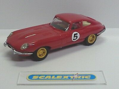 SCALEXTRIC Vintage 1970's E TYPE JAGUAR C34 #5 Red (CHERISHED) RUNS WELL ENGLISH