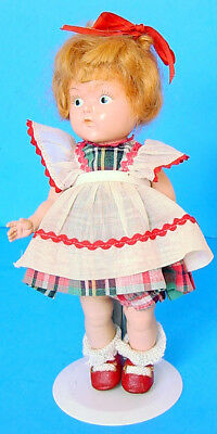 1949 VOGUE PAINTED EYE GINNY DAUGHTER DOLL #8-21C in PLAID DRESS MINTY!