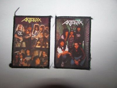 Anthrax  X2  PATCHES VINTAGE