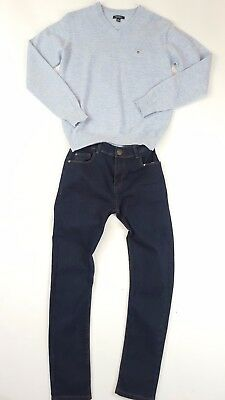 Immac Boys 13 14 Designer Gant 100% Lambswool Sweater & Next Jeans Seeotheritems