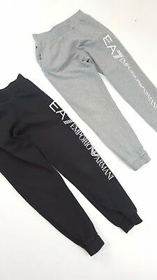Imac 11 12 Designer Ea7 Armani 2 Pairs Of Tracksuit Bottoms Black Grey Seeothers
