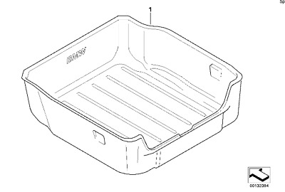 OEM BMW X5 E70 2007-2013 Luggage Compartment Pan Mat Tray Trunk Cargo Liner