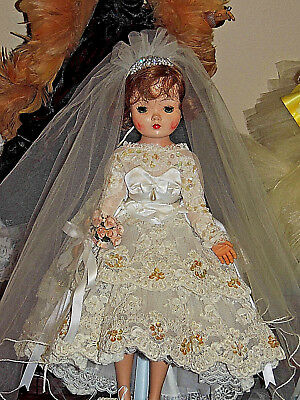Madame Alaexander Cissy Tagged Pearl Embroidered Lace Bridal Outfit Htf No Doll
