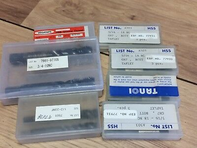 Lot Of Vega & Other Taps 5/16-24 1/2-20 3/4-10  5/16-18