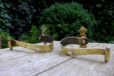 Antique Vintage Brass Tie Back Curtain Brackets Pair Project Replacement