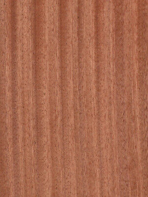 "Ribbon Sapele (Mahogany) Wood Veneer Paper Backer Backing 2' X 8' (24"" x 98"")"