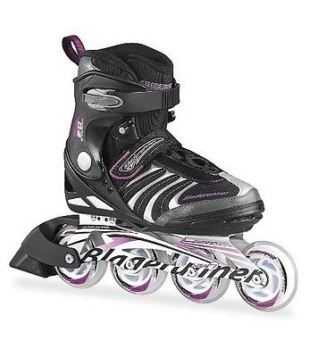 Blade Runner Girl's Formula 82 Inline Skates - Black/Purple, Size 4 UK 36.5 EU