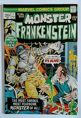 The Monster Of Frankenstein  # 1 Very  Fine  Plus 1973