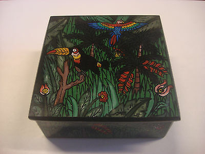 Authentic - Culturas Del Sol Hand Made Pottery In Peru - Wood Bird - Container