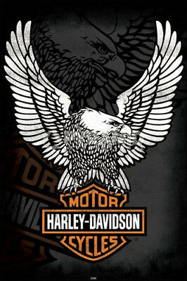Harley-Davidson Motorcycles THE EAGLE HAS LANDED Official Logo Emblem POSTER