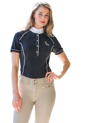 Goode Rider Iconic Women's Show Shirt with Contrast Piping and Stock Tie Loop