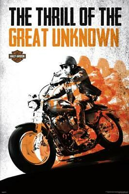 Harley-Davidson Motorcycles THE GREAT UNKNOWN Official Wall POSTER