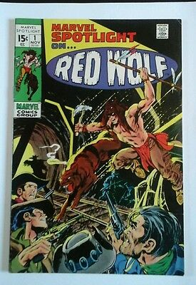 Marvel Spotlight   # 1  Fine /very Fine 1971 Red Wolf