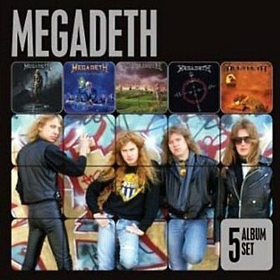 MEGADETH 5CD NEW Rust In Peace/Countdown To Extinction/Youthanasia/Cryptic/Risk
